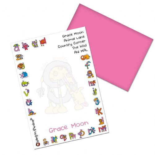 Personalised Bang On The Door Animal Alphabet Girls Paper